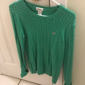 Lilly Pulitzer green sweater  medium